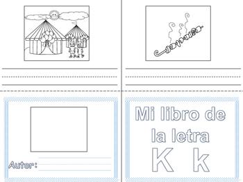 Libritos de vocabulario letras K y Q