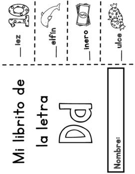 Libritos del alfabeto:  Interactive Spanish Alphabet Books
