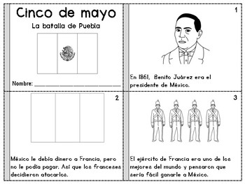Libritos del cinco de mayo - Cinco de Mayo Mini Books