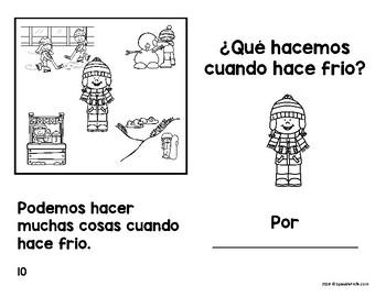 Libritos faciles el clima o tiempo (Easy Reader Books Spanish Weather)