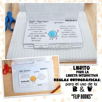 Libritos (plegables) Reglas Ortográficas: Letras B & V