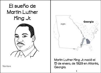 Libritos sobre Martin Luther King Jr. Spanish Martin Luther King Jr. books