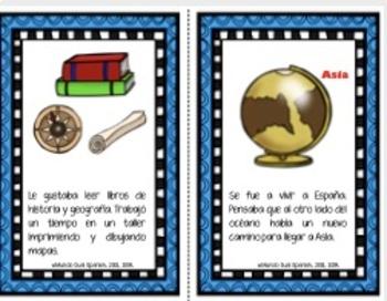 Cristóbal Colón: Mini-libro Descubrimiento de América.