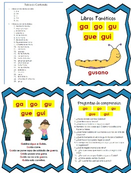 Libro Fonético – Sílabas con la letra Ga, Gue, Gui, Go, Gu