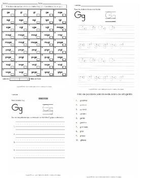Libro Fonético – Sílabas con la letra Ge Gi /j/