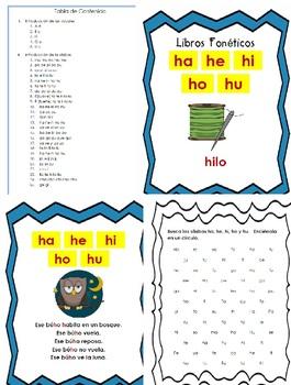 Libro Fonético – Sílabas con la letra H