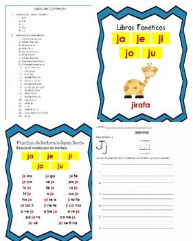 Libro Fonético – Sílabas con la letra J