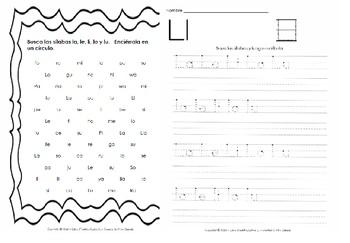 Libro Fonético – Sílabas con la letra L