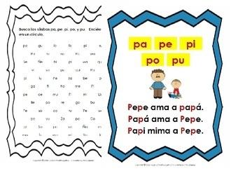 Libro Fonético – Sílabas con la letra P