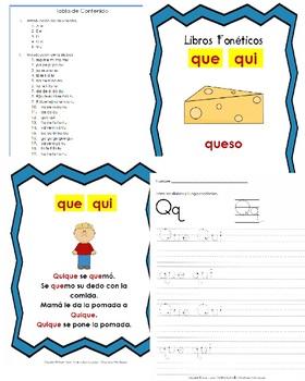 Libro Fonético – Sílabas con la letra Q - que/qui