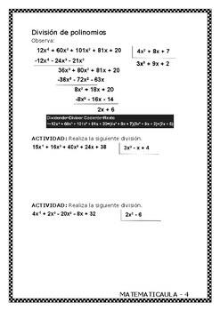 Libro - Polinomios y factorización ESO