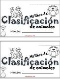 Libro de Clasificacion de Animales