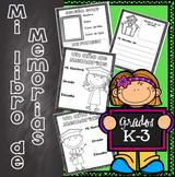 Libro de Memorias Fin de Ano Grados K-3