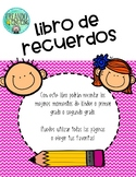 Libro de Recuerdos-Memory Book in Spanish