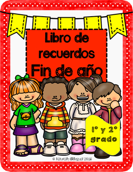Libro De Recuerdos De Fin De Año En Español End Of Year Memory Book In Spanish