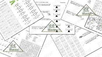 Math review (Mini book) (Spanish)