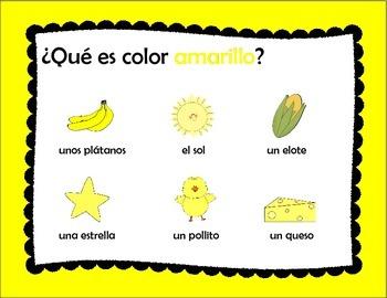 Libro de los Colores - Book of Colors in Spanish