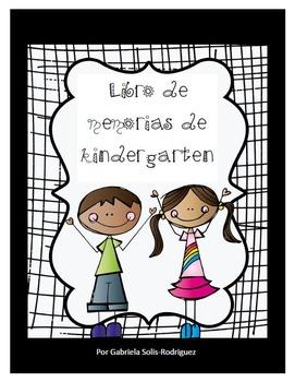 Libro de memorias de kindergarten y certificados