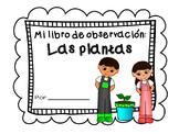 Libro de observación: Las plantas