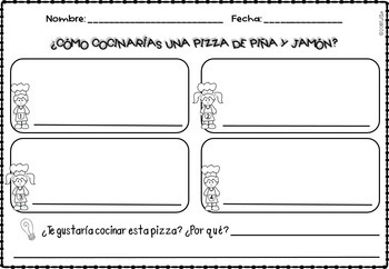Libro de recetas/Recipe Book: how to, opinion, main idea-details, writ checklist