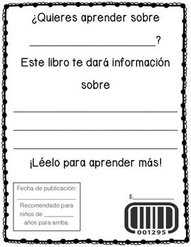 Libro informativo (Informative book SPANISH)