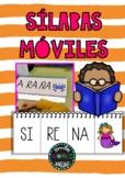 Libro móvil sílabas móviles palabras Flip Book Spanish Español