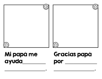 Libro para el dia del padre (Father's Day in Spanish book)