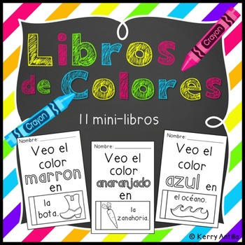 Libros de Colores- 11 mini-libros para colores