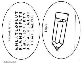 Libros de las letras. Spanish alphabet