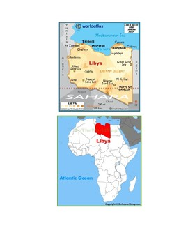 Libya Map Scavenger Hunt