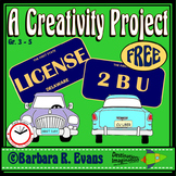CREATIVE THINKING PROJECTS License Plate Activity GATE Creativity