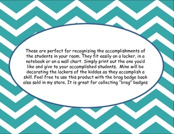 Glittery Brag Badges-Celebrating the accomplishments of your students
