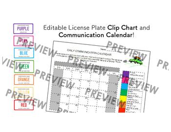 License Plate Clip Chart & Log