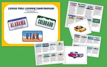 License Plate Listening Comprehension