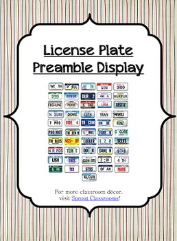 License Plate Preamble {US / American History}
