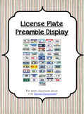 License Plate Preamble {US / American History}