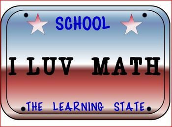 License Plates: Classroom FUN