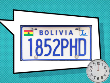 License Plates - alphabet & numbers