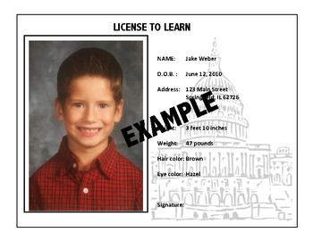 License to Learn - Beginning of the Year Back to School Bulletin Board