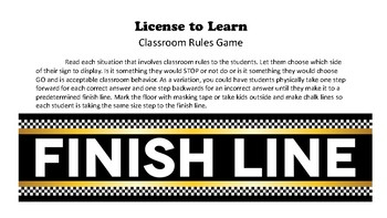 License to Learn - Classroom Rules Game for Beginning of the Year Back to School
