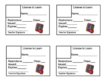 License to Learn for Students