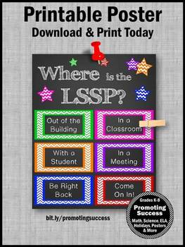 Licensed Specialist in School Psychology Where is the LSSP Sign NOT EDITABLE