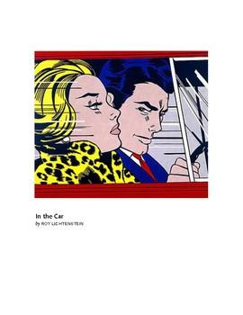 Lichtenstein In the Car Pop Art