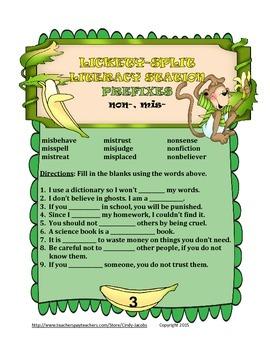 Lickety-Split Literacy Station Prefixes