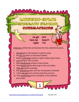 Lickety-Split Literacy Station Contractions