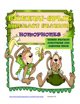 Lickety-Split Literacy Station Homophones