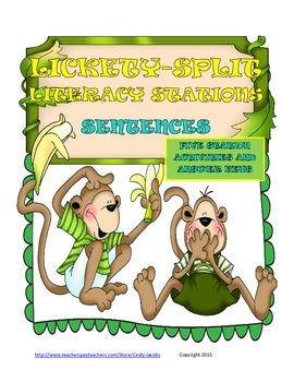 Lickety-Split Literacy Station Sentences