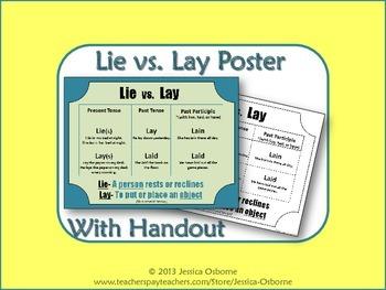 Lie vs. Lay Poster