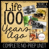 100th Day of School Communities Then and Now Unit | Distan