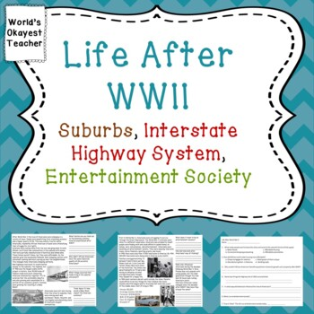 Life After WWII: Suburbs, Interstate Highway System, Entertainment Society